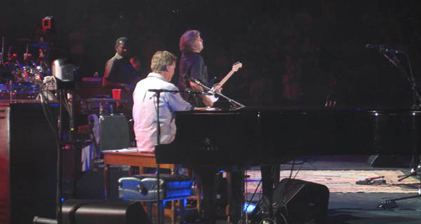 Eric Clapton and Steve Winwood at Pepsi Center in Denver Colorado Photo Mike Hardaker | Mountain Weekly News