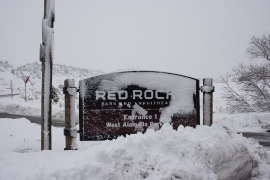 Red Rocks Powder Day