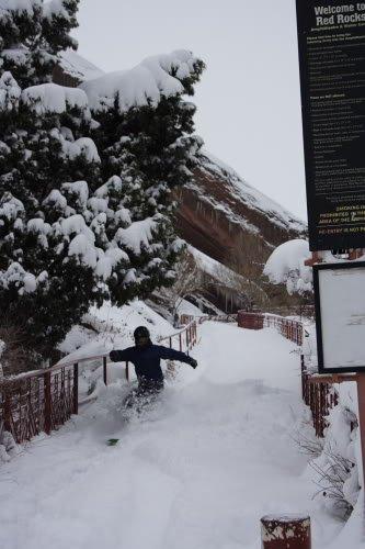 Brendon Thompson Snowboarding at Red Rocks Photo Mike Hardaker   Mountain Weekly News