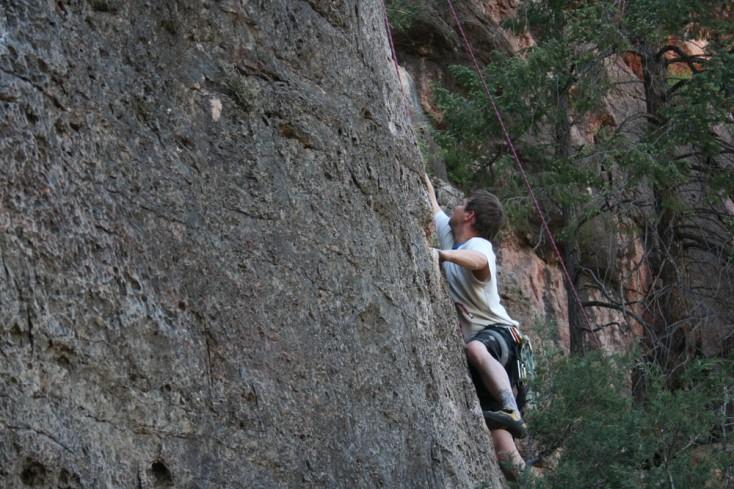 Climbing Limestone Walls at Shelf Road