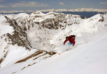 Skiing Mt. Democrat 14,148ft