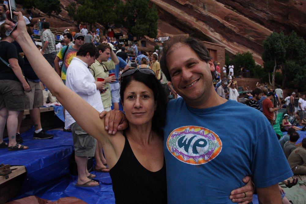 Marisa and Scott Widespread Panic Red Rocks 2010