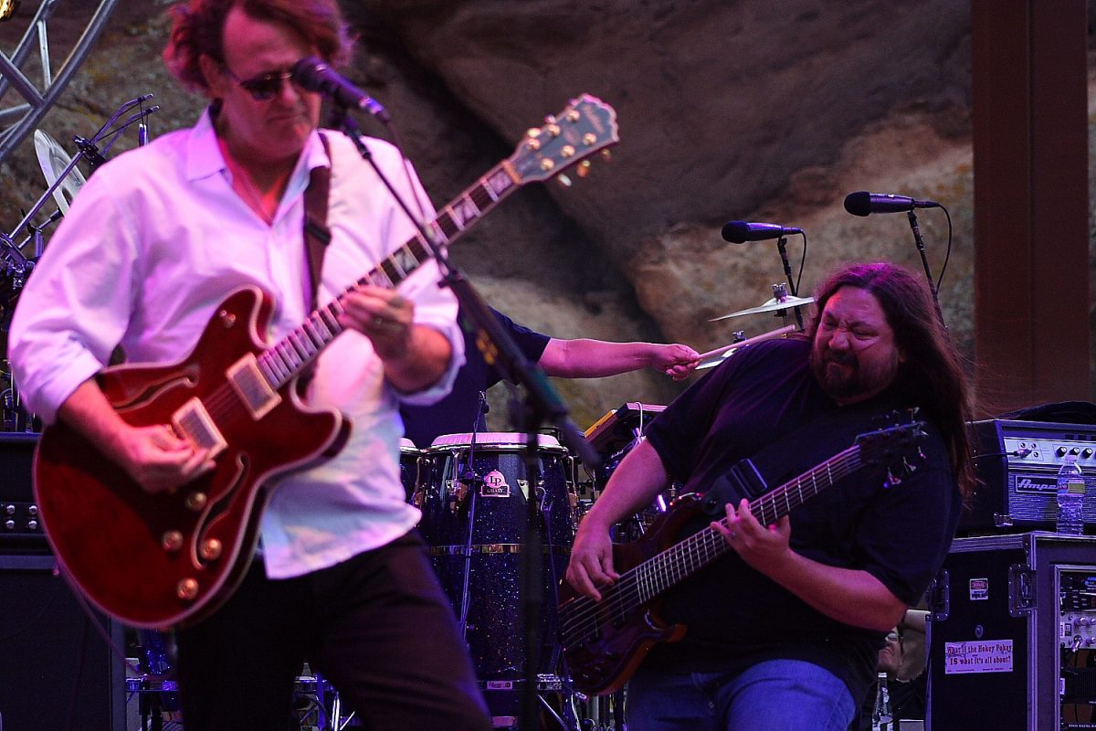 Widespread Panic - Dave Schools and J.B. Red Rocks Photo Mike Hardaker | Mountain Weekly News