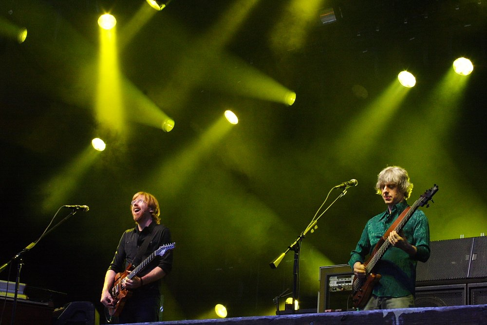 Phish performing in Telluride, CO in 2010 Photo: Mike Hardaker | Mountain Weekly News