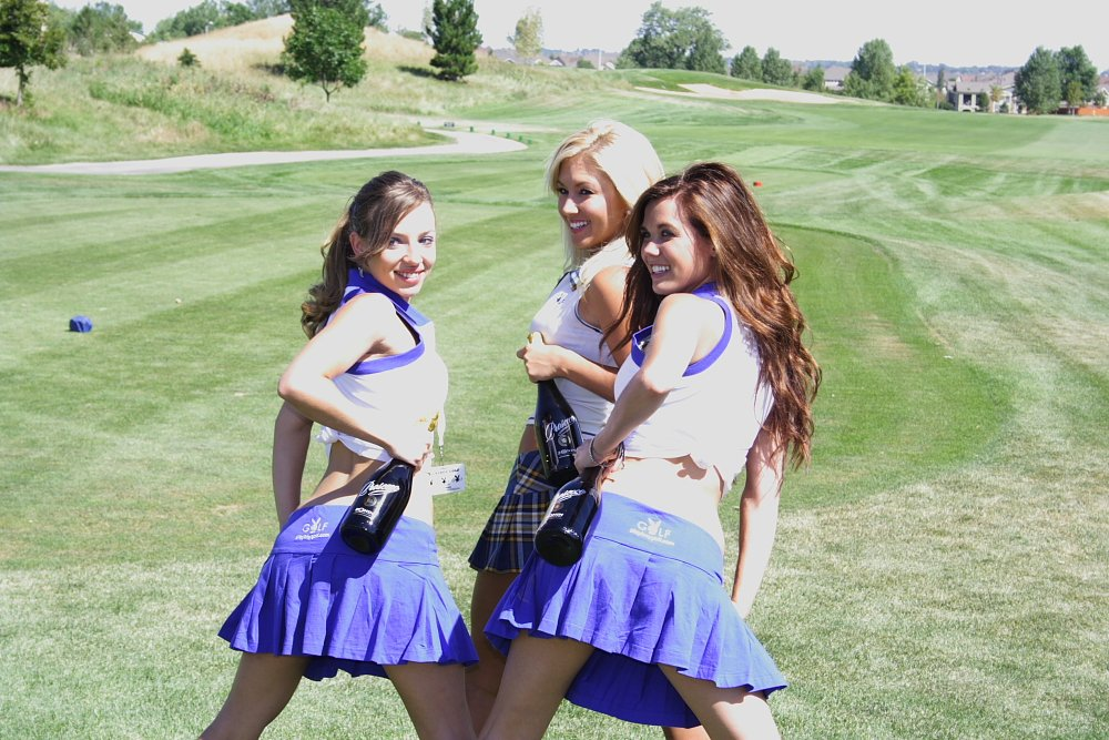 Playboy Golf Denver Amy Leigh Andrews and Friends Photo Mike Hardaker