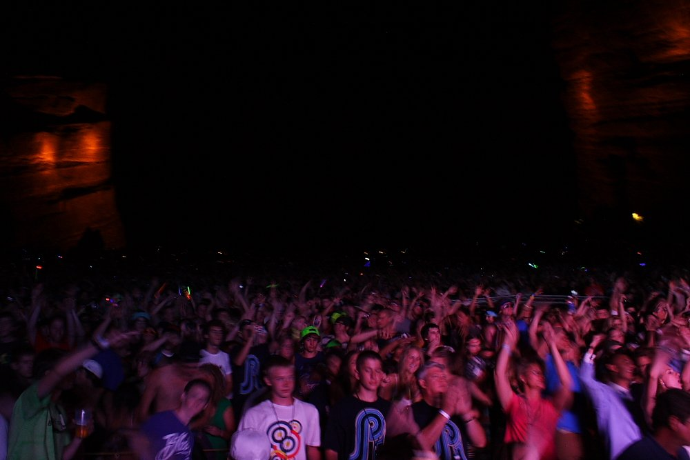 Pretty Lights Fans at Red Rocks Amphitheatre Photo: Mike Hardaker | Mountain Weekly News