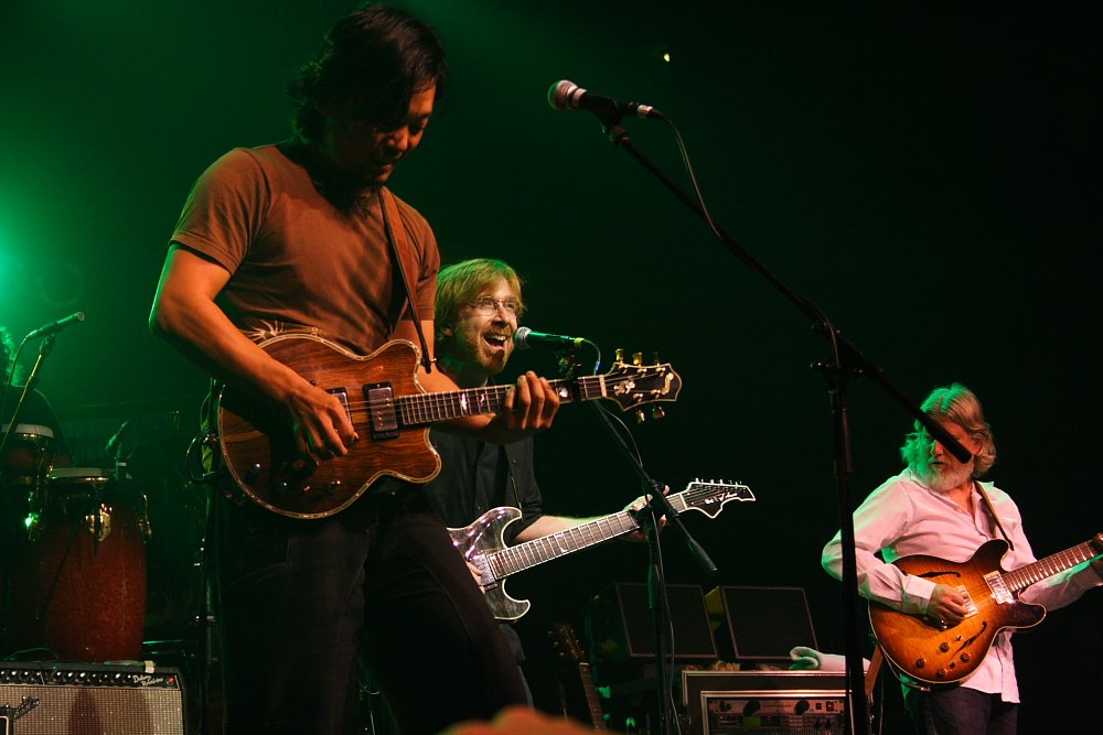 Trey Anastasio and String Cheese Incident Jam duing the Fourmile Benefit Photo: Mike Hardaker| Mountain Weekly News