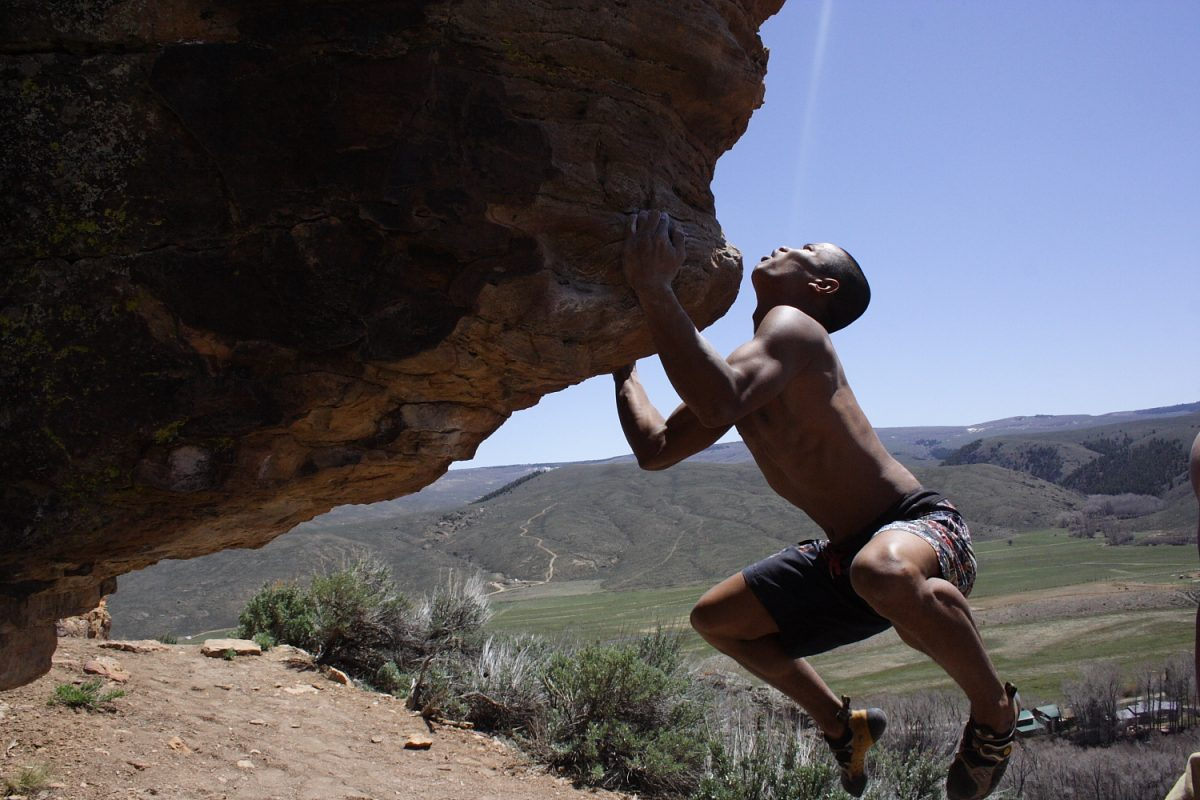 Zazzi Bouldering in Almont Colorado Photo Mike Hardaker | Mountain Weekly News