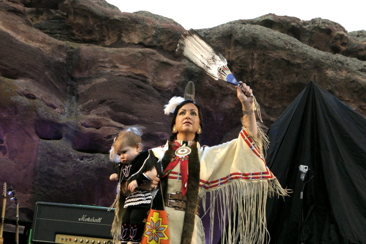Dispatch Native American Dancers Red Rocks Concert Photo: Soren McCarty
