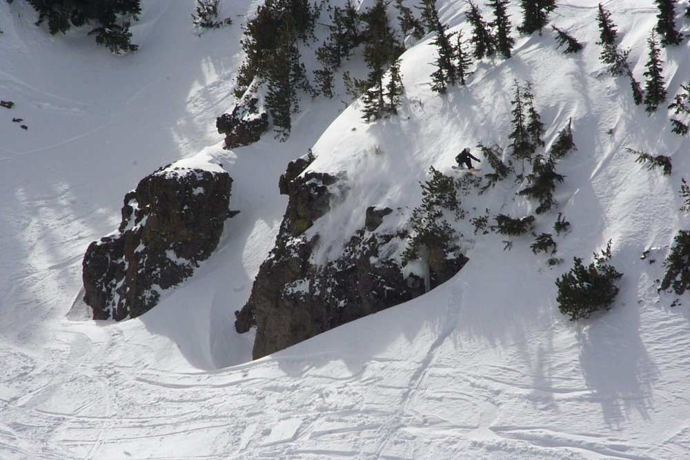 Aaron Robinson crushing it during The North Face Masters Snowbird Photo Mike Hardaker | Mountain Weekly News