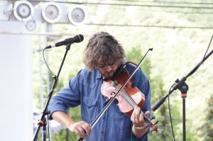 Drew Emmitt is No Stranger to Playing on the Ski Slopes Rocking During the Emu Festival in Snowmass Photo: Mike Hardaker