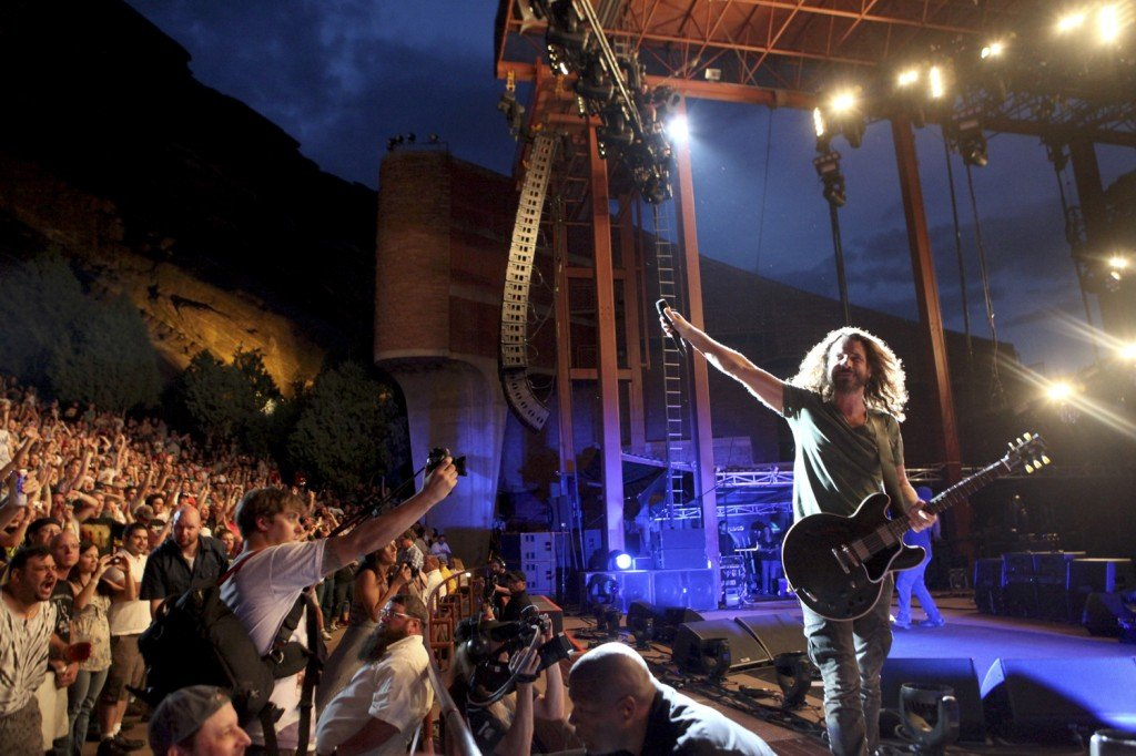 Soundgarden perform a sold out concert at Red Rocks in Morrison Colorado on July 18, 2011 Photography By Soren McCarty/Infevents.com