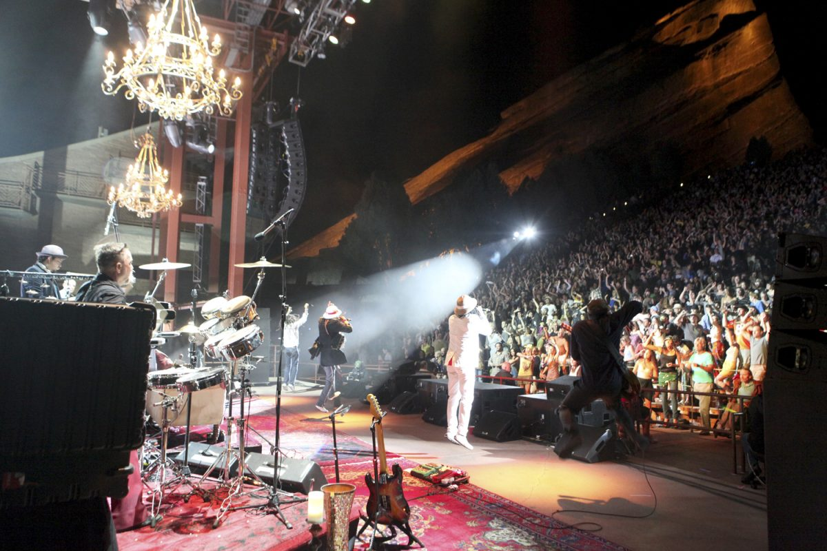 Thievery Corporation Red Rocks on August 14, 2011 Photo: Soren McCarty | Mountain Weekly News