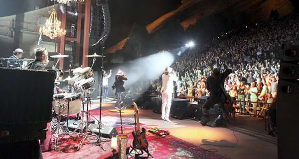 Thievery Corporation in concert at Red Rocks in Morrsion,Colorado on August 14, 2011 Photo By Soren McCarty | Mountain Weekly News
