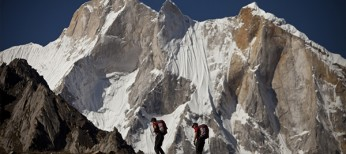 Conrad Anker, Jimmy Chin and Renan Ozturk Summit Meru Peak