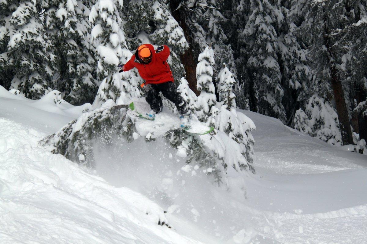 Wolf Creek Opening Day Snowboarder Mark Koelker Photo Ben Koelker