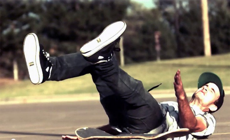 Slow Motion Skateboarding and A Skate Ramp Canvas of Light
