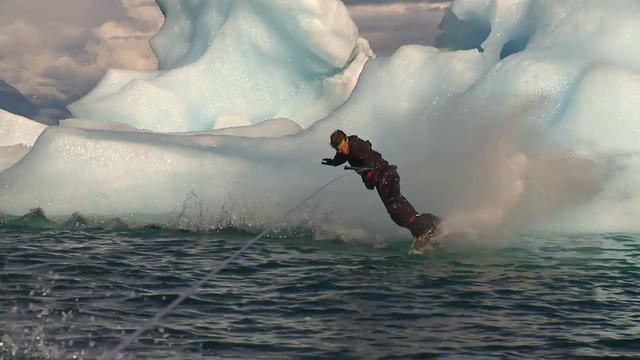 Wakeboarding in Alaska
