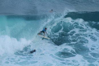 Surfing Padang-Padang in Bali