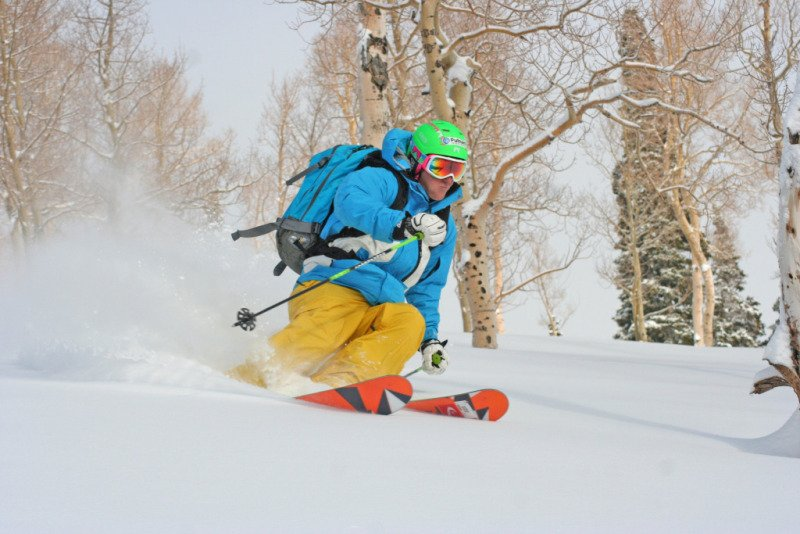 Ted Ligety Skiing Park City Mountain Resort