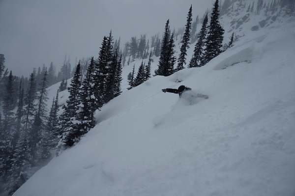 Brent Fullerton Getting deep in the Jackson Hole backcountry on the Venture Storm Photo Mike Hardaker