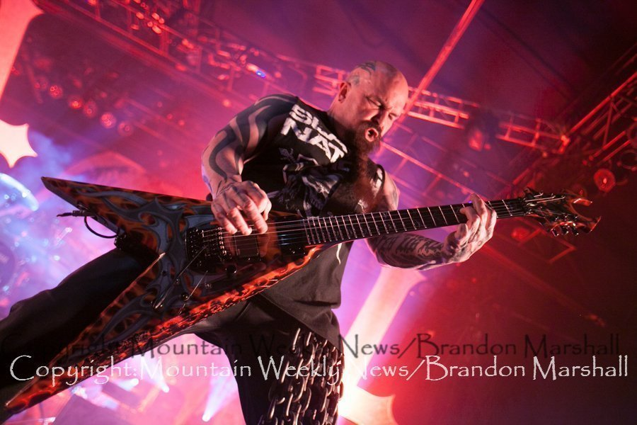 Slayer performing at Fillmore Auditorium in Denver,Colorado, America on May 19th, 2014. Photo Brandon Marshall | Mountain Weekly News