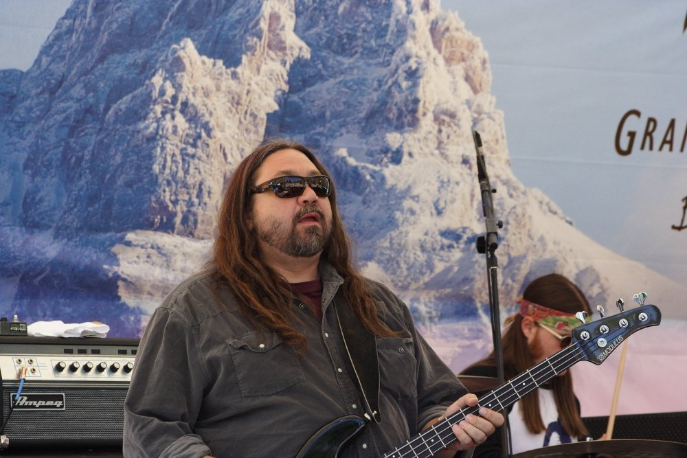 Bassmountain, Dave Schools of Hard Working Americans at 2014 Targhee Fest Photo: Mike Hardaker | Mountain Weekly News