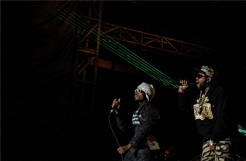 Andre 3000, left and Big Boi reuniting as Outkast. Photo: Jonathan Penfield | Mountain Weekly News