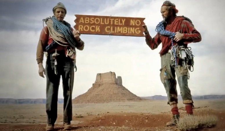 No Rock Climbing Allowed