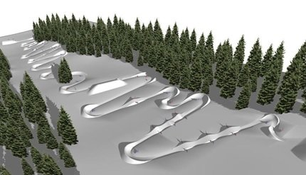 SIA Banked Slalom Course Rendering