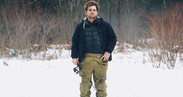 Mike Barrus is not affraid to fish year round in his Dan Bailey Waist-Hi Waders | Photo Mountain Weekly News