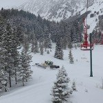 Powder day at Bridger Bowl, note the empty chairs Photo Mike Hardaker | Mountain Weekly News