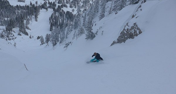 When he's not busy managing the terrain park at Bridger Bowl, Josh Thomson can be found in the steeps. Nope it's not Jackson.. Photo Mike Hardaker   Mountain Weekly News