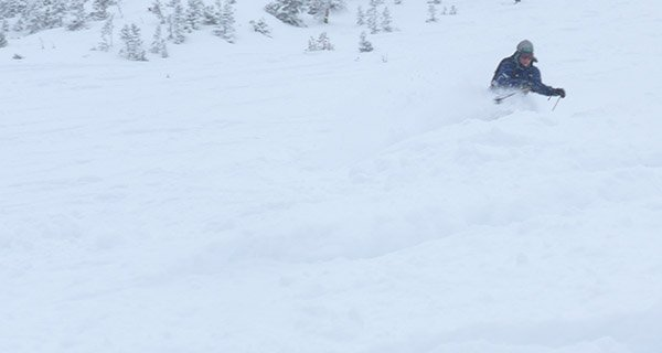 Bridger's Marketing Director Doug Wales knows were to find the deep snow! Photo Mike Hardaker   Mountain Weekly News