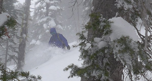Nathaniel testing the Untracked Deep in the Tetons Photo Mike Hardaker | Mountain Weekly News