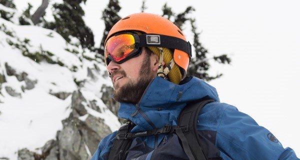 Daniel Silverberg testing the Giro Onset Goggle, Photo Joey Mara | Mountain Weekly News