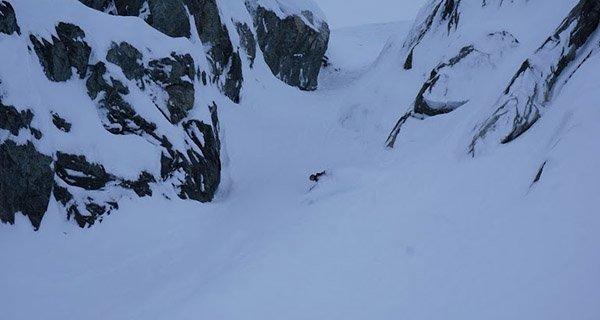 Ben Osborne testing the LTD Optics ELX Goggle in Whistler, Photo Mountain Weekly News