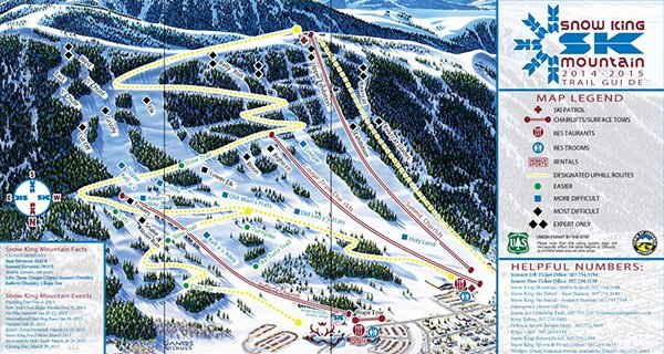 Snowking Trail Map