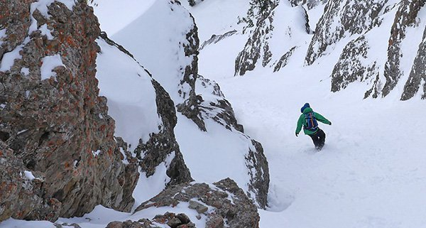 Nathaniel Murphy riding with the Evoc Line Team Backpack in the Tetons Photo | Mountain Weekly News