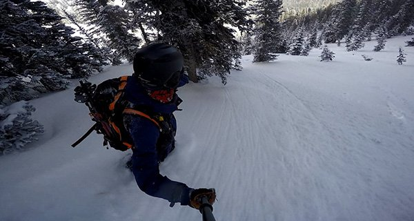 Mountain Weekly News Editor Mike Hardaker capturing the magic with the GoScope Boost Plus Pole in the Tetons