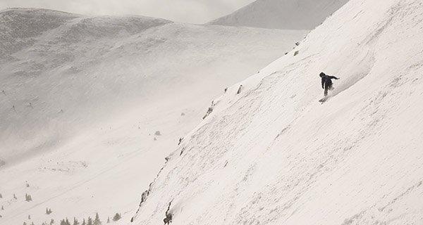 Mike Hardaker's first lap in the 2016 Lib Tech Banana Magic Snowboard Photo Ben Koelker | Mountain Weekly News