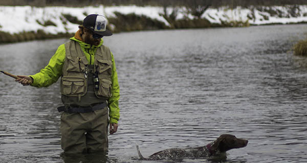 A man, his best friend and trusted Orvis gear. Mike Hardaker deep in the Tetons Photo Chris Kirkpatrick | Mountain Weekly