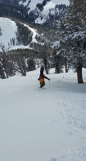 Marlon Collova going up Glory in the Strafe Cham Jacket Photo | Mountain Weekly News