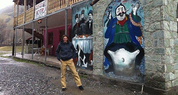 Ben testing the Mountain Khakis Alpine Pant on the mean streets of Georgia Photo | Mountain Weekly News