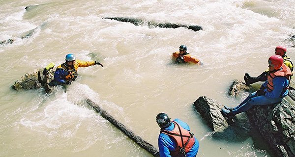 Human Chain Swiftwater Rescue
