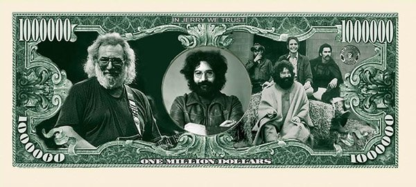 Grateful Dead Money Dollar Bills