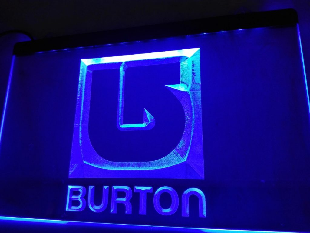 Burton Snowboard Sign