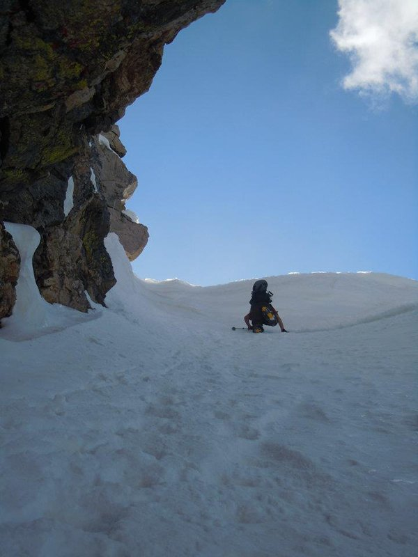 Marlon on the final push in his Fitwell Backcountry Boots