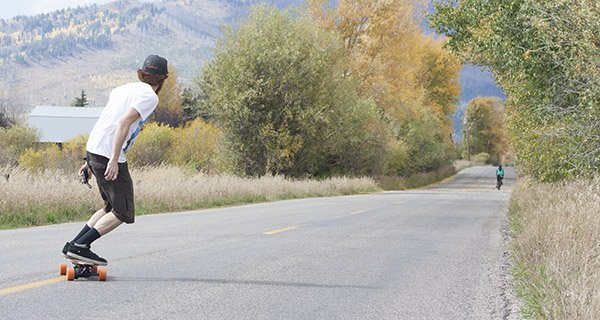 Mike Hardaker testing the Yuneec E-Go in Jackson, WY Photo Jeff Stein | Mountain Weekly News