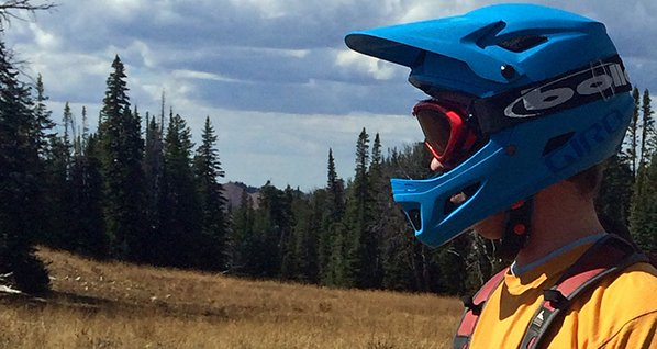 Logan testing the Giro Cipher deep in the Tetons Photo Mountain Weekly News